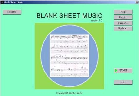 Blank Sheet Music - free blank sheet music,print blank sheet music,tab,tablature,staves,treble,bass, - Blank Sheet Music is a free software.